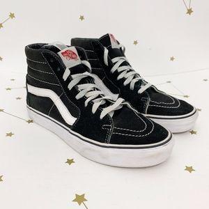 Vans • Sk8 High Top Sneakers Black Suede Shoes